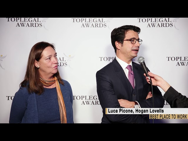 Luca Picone, Hogan Lovells - TopLegal Awards 2018