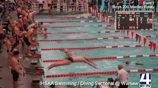2019 IHSAA Boys Swimming and Diving Sectional Finals at Warsaw High School   02 16 19