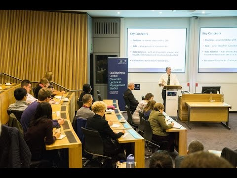 Clarendon Lectures: Dr Stephen R. Barley - How do technologies change organisations?