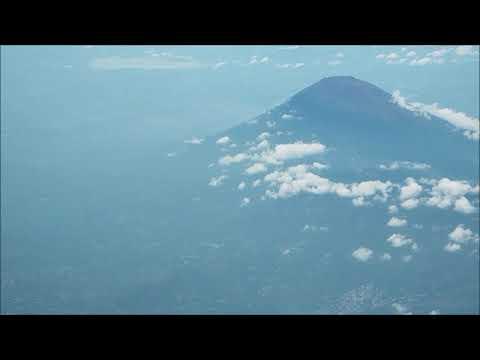 Flight Past El Salvador Volcanoes