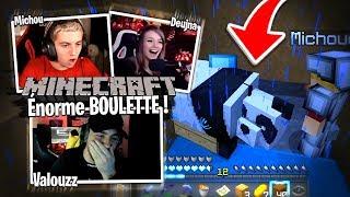 L'énorme boulette de Michou pendant notre capture de Panda avec Deujna sur Minecraft #3