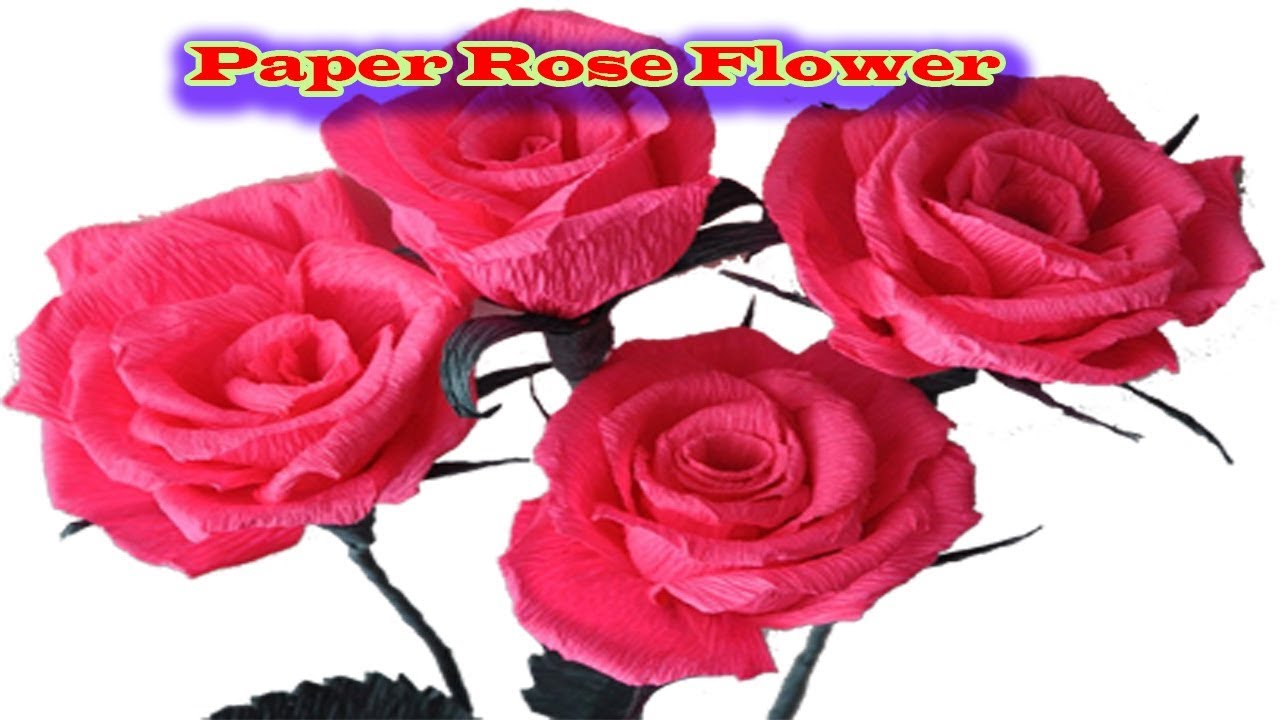 How To Make Realistic And Easy Paper Roses Diy How To