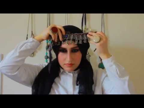 A Hijab Tutorial With  Afghan Headpiece by Avizeh Ft  Hanine