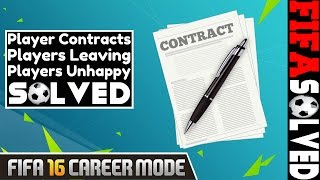 FIFA 16 Career Mode Tips | Player Contracts Solved