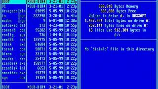 Подготовка диска MS DOS Fdisk