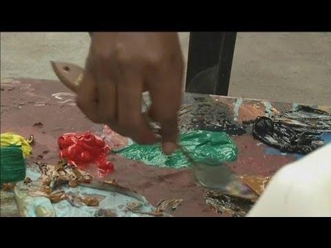 RD Congo • Willys Kezi une artiste peintre aux accents sensuels
