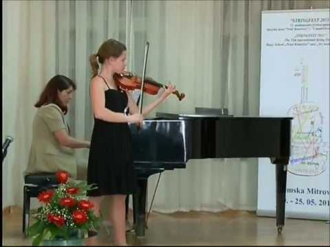 Urška Gutnik plays F  Drdla concertino in A minor Op  225