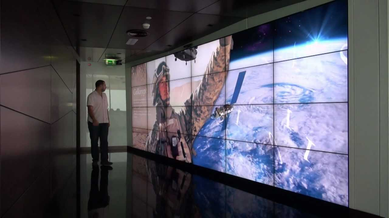 The World S Largest Interactive Video Wall Using Kinect