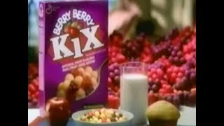 Kix Berry Berry Cereals Raining Berries 1994 TV Commercial HD