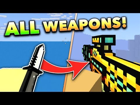 I USED ALL WEAPONS!! | Pixel Gun 3D Gun Game (Special)