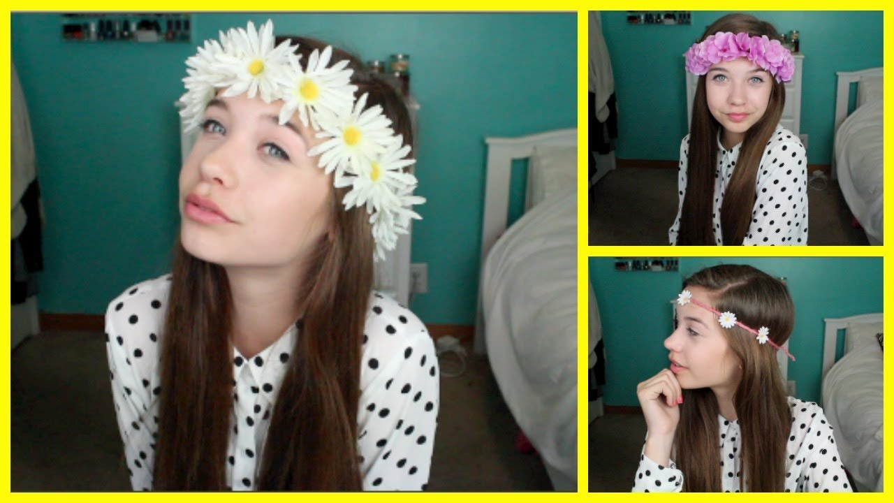 Diy flower crownheadband youtube izmirmasajfo