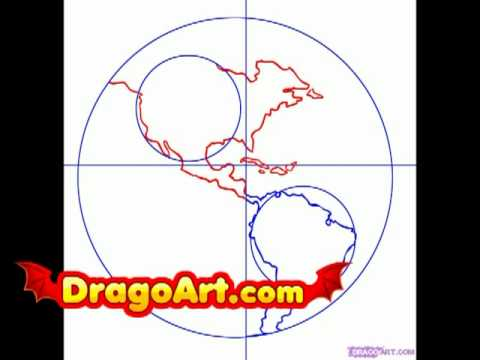 How To Draw The Earth Step By Step Easy