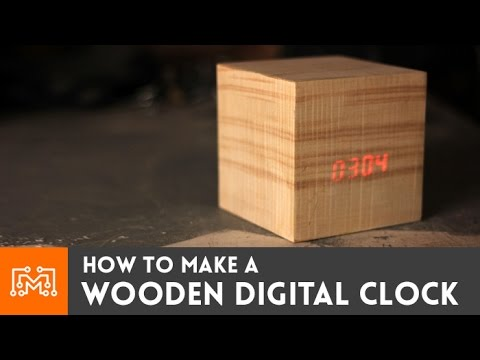 Wooden digital clock // How-To