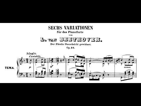 Beethoven: 6 Variations on an Original Theme in F Major, Op.34 (Mustonen, Lortie, Korstick)