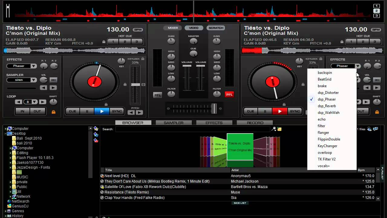 Virtual dj – a free software for mixing songs « sofotex download blog.