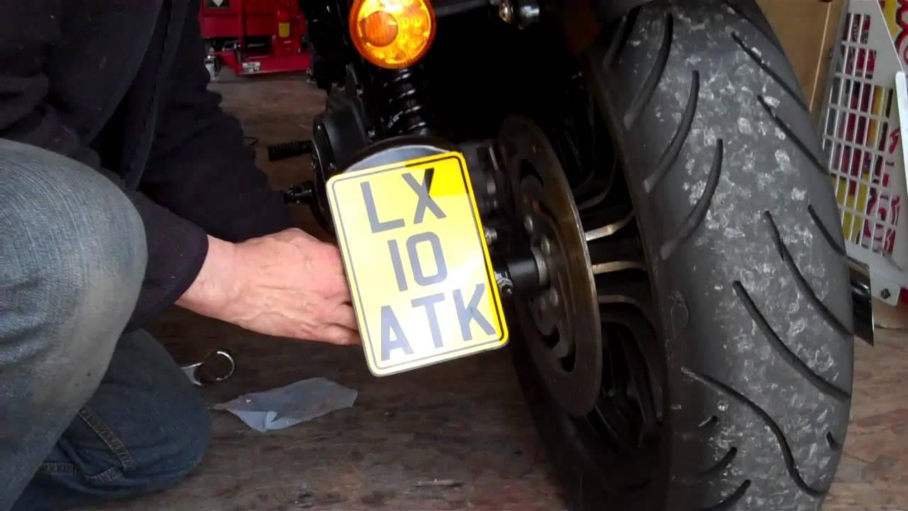 Delboy S Garage Sportster 883 Iron Sidemount Plate