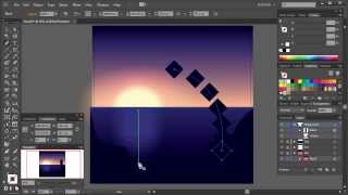 Create a Sunset Scene Using the Blend Tool in Illustrator
