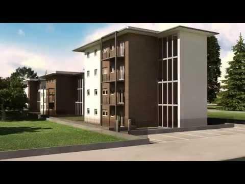 Render e animazione 3d visita virtuale di nuovi edifici for Palazzine moderne