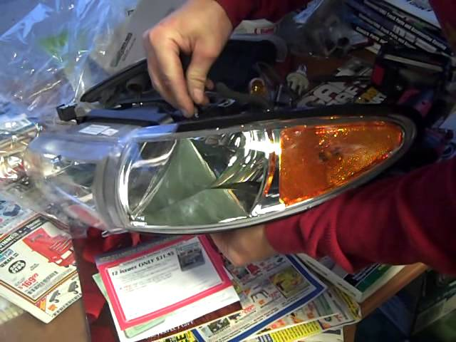 2002 Pontiac Grand Prix Headlight Assembly Replacement Youtube