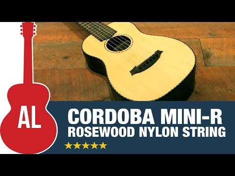 Cordoba Mini-R (rosewood) - Easy to Play Nylon Guitar!