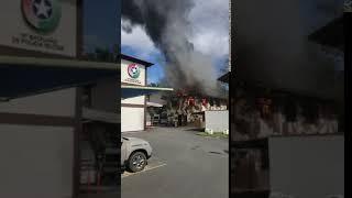 Incêndio atinge Batalhão da Polícia Militar em Blumenau