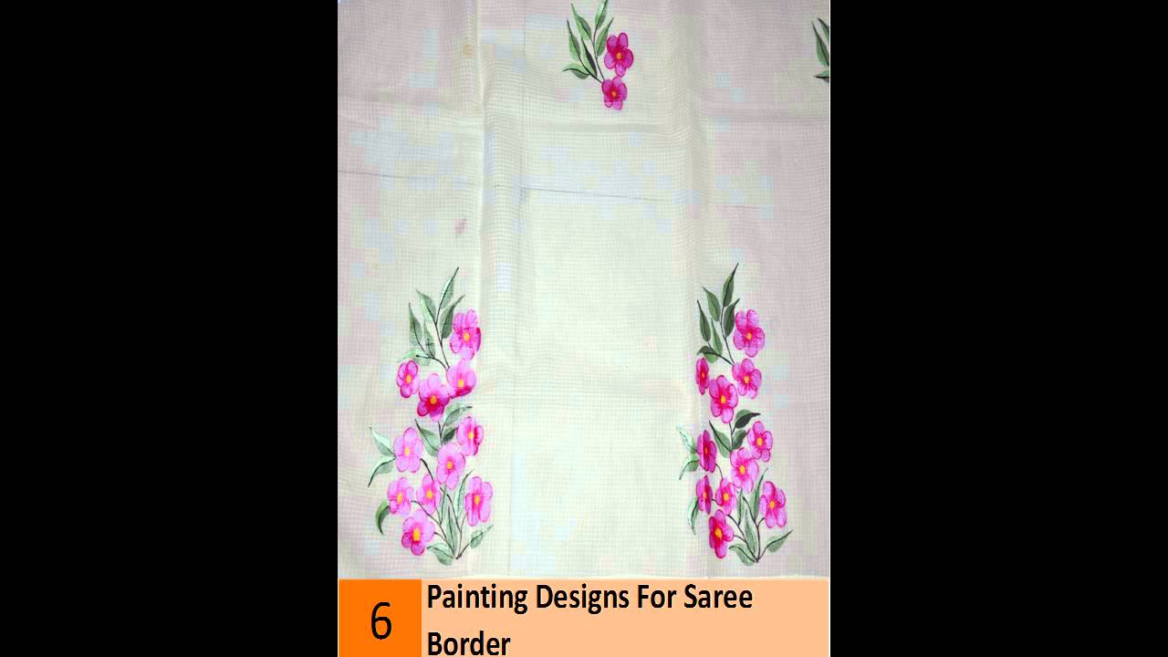 The Best Painting Designs For Saree Border