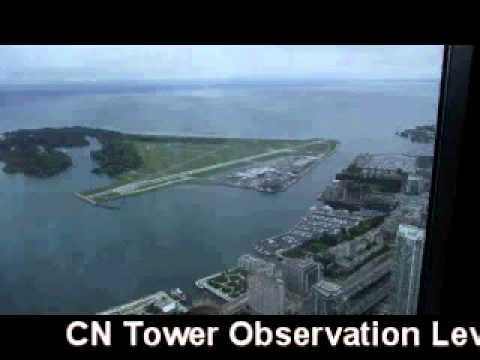 CN Tower Express elevator ride and glass floor 1815.4 ft in the sky