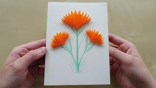 Glückwunschkarte basteln mit Papier. Karte aus Papier selber machen für Geburtstag, Hochzeit, etc.