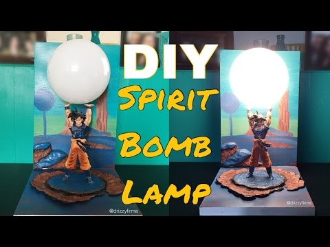 DIY Spirit Bomb Lamp (Dragon Ball Z)
