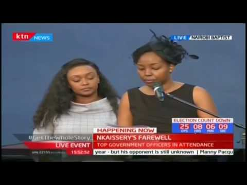 General Nkaissery's daughter pays tribute to her father