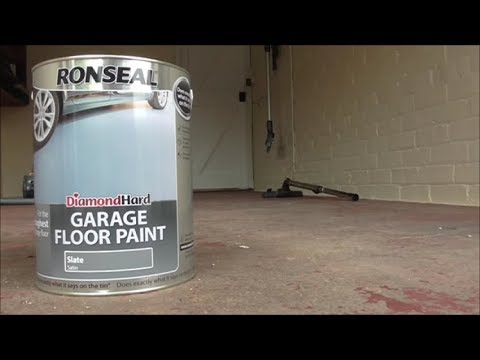 Water Based Garage Floor Paint Diamond Hard Slate Grey Youtube