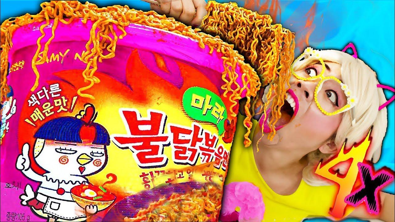 มาม่าเกาหลียักษ์เผ็ด X4 เคยกินหรือยัง!! ชิคกี้พาย DIY