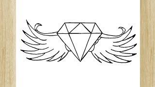 Como Desenhar Diamante Fácil Passo A Passo