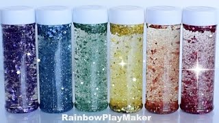 DIY HOW TO MAKE RAINBOW GLITTER JARS! Calming Satisfying Sensory Bottles Video