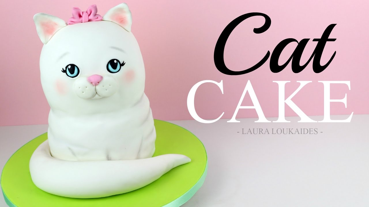 How to Make a 3D Cat Cake Laura Loukaides YouTube