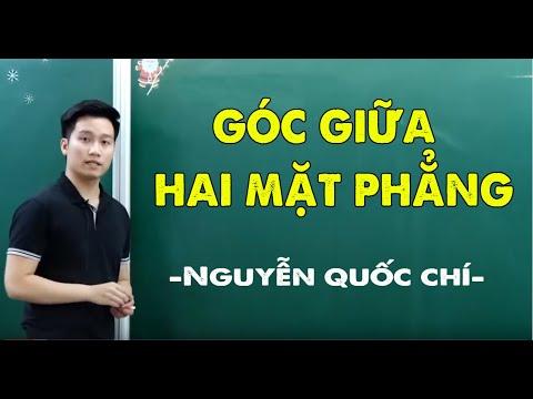 GÓC GIỮA HAI MẶT PHẲNG _ Hình 11 _ Thầy Nguyễn Quốc Chí