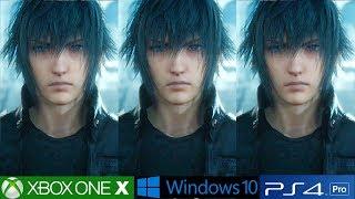Final Fantasy 15 PC Analysis, PS4 Pro vs PC vs Xbox One X Graphics Comparison