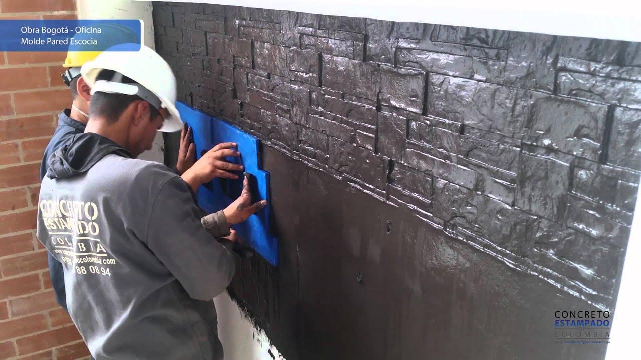 Obra Estampado De Pared Bogota Oficina Concreto Estampado Colombia