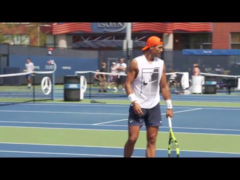 LIVE US Open Tennis 2017: Rafael Nadal Practice