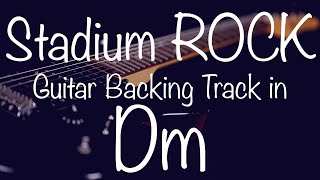 Stadium Rock Guitar Backing Track in Dm / D-Minor