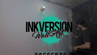 Krave Kreations Desserts/ Mural Art/ Wall Art/ Wall painting/Time Lapse video/ Airbrush Art/