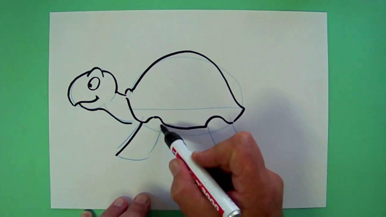 wie malt man eine schildkr te zeichnen f r kinder youtube. Black Bedroom Furniture Sets. Home Design Ideas