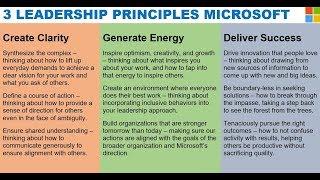 The 3 Leadership Principles at Microsoft via Satya Nadella