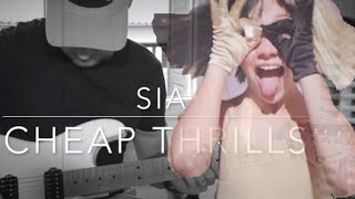Sia - Cheap Thrills - Electric Guitar Cover with Tab☀️🎸👻