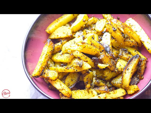 Chutney Potatoes | Delicious & Spicy Green Potato Fry