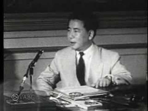 Vietnam War Ngo Dinh Diem On Geneva Agreement Of 1954 Youtube