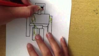 Drawing an Iron Golem