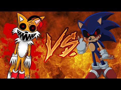 Tails Doll vs  Sonic exe (Español/English) || Liga de Rap de Creepypastas  || Dazen