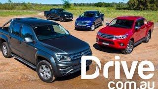 2017 Volkswagen Amarok V6 v Toyota HiLux SR5 v Ford Ranger XLT v Holden Colorado Z71 Comparison