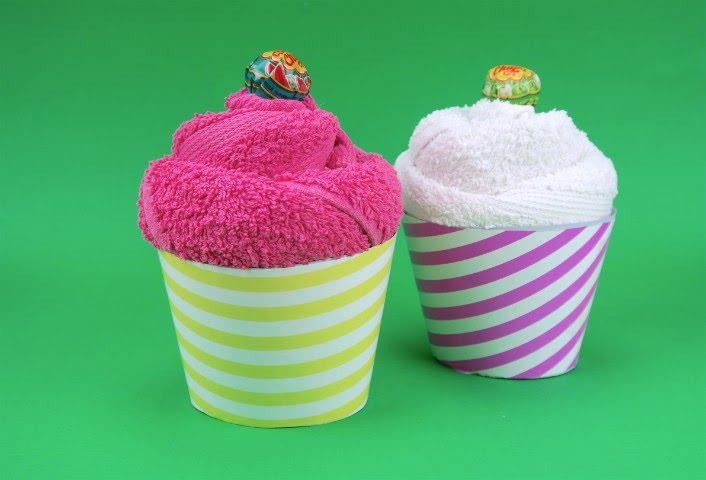 Come creare un cupcake con un asciugamano youtube for Animali con asciugamani